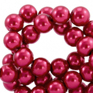 Top quality Glasparels rond 6 mm Ruby wine red