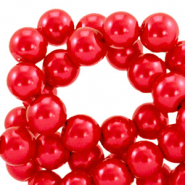 Top quality Glasparels rond 6 mm Cherry red