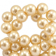 Top quality Glasparels rond 6 mm Rich gold