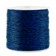 Metallic macramé draad 0.5mm Dark blue
