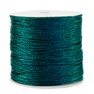 Metallic macramé draad 0.5mm Forest green