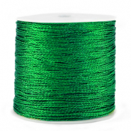 Metallic macramé draad 0.5mm Irish green