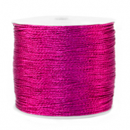 Metallic macramé draad 0.5mm Raspberry rose purple
