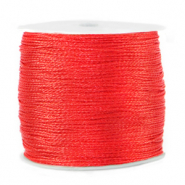 Metallic macramé draad 0.5mm Fiery red