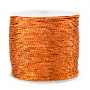 Metallic macramé draad 0.5mm Rust orange