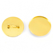 Broches voor cabochon 35mm Goud