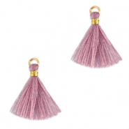 Kwastje 1.5cm Gold-light mauve purple