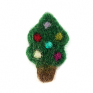 Bedels 1 oog vilt christmas tree Green