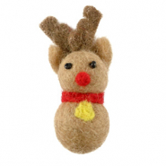 Bedels 1 oog vilt reinreindeer Light brown-red