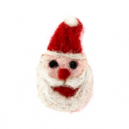 Bedels 1 oog vilt Santa Red-white