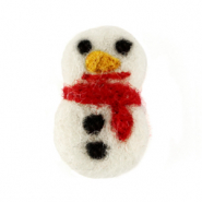 Bedels 1 oog vilt snowmen White-red