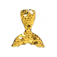 Bedels 1 oog pailletten mermaid tail Gold