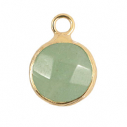 Hangers van natuursteen 10mm Light green-gold