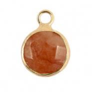 Hangers van natuursteen 10mm Rust rose-gold