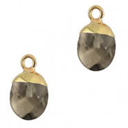 Hangers van natuursteen Black diamond-gold