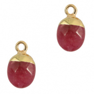 Hangers van natuursteen Dark fruit dove pink-gold