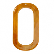 Hangers van resin langwerpig ovaal 56x30mm Golden brown