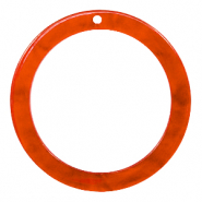 Hangers van resin rond 35mm Tangerine tango orange