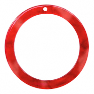 Hangers van resin rond 35mm Chilli red