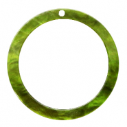 Hangers van resin rond 35mm Guacamole green