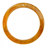 Hangers van resin rond 35mm Golden brown