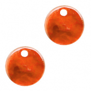 Hangers van resin rond 12mm Tangerine tango orange