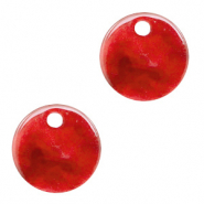 Hangers van resin rond 12mm Chilli red