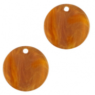 Hangers van resin rond 12mm Golden brown