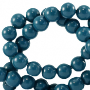 Glaskralen 8 mm opaque Gibraltar sea blue