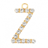 Basic quality metaal bedel strass initial Z Goud