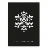 "Kaartjes voor sieraden ""baby it's cold outside"" Black"