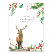 "Kaartjes voor sieraden ""the most wonderful time of the year"" White-brown"