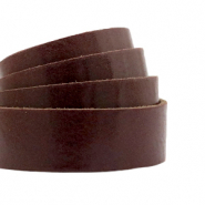 Plat leer 20 mm DQ Rocky road brown