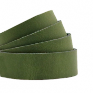 Plat leer 20 mm DQ Soft guacamole green