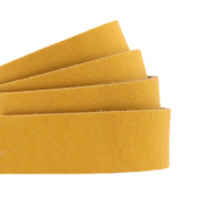 Plat leer 20 mm DQ Ochre yellow