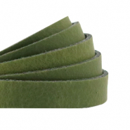 Plat leer 10 mm DQ Soft guacamole green