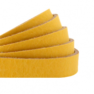 Plat leer 10 mm DQ Ochre yellow