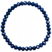 Facet armbanden top quality 6x4mm Evening blue-pearl shine coating