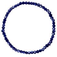 Facet armbanden top quality 4x3mm Evening blue-pearl shine coating