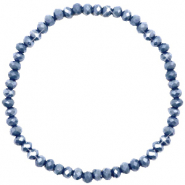 Facet armbanden top quality 4x3mm Blue stone-pearl shine coating