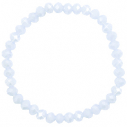 Facet armbanden top quality 6x4mm Ice blue-pearl shine coating