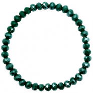 Facet armbanden top quality 6x4mm Dark eden green-pearl shine coating
