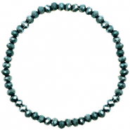 Facet armbanden top quality 4x3mm Dark eden green-pearl shine coating