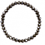 Facet armbanden top quality 6x4mm Dark olive green-pearl shine coating