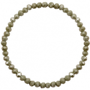 Facet armbanden top quality 4x3mm Olive green-pearl shine coating
