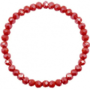 Facet armbanden top quality 6x4mm Chillipeper red-pearl shine coating