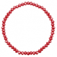 Facet armbanden top quality 4x3mm Chillipeper red-pearl shine coating