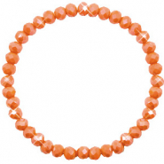 Facet armbanden top quality 6x4mm Rust orange-pearl shine coating