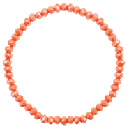 Facet armbanden top quality 4x3mm Rust orange-pearl shine coating
