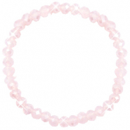 Facet armbanden top quality 6x4mm Peach pink opal-pearl shine coating